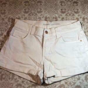 Old Navy size 2 white boyfriend shorts